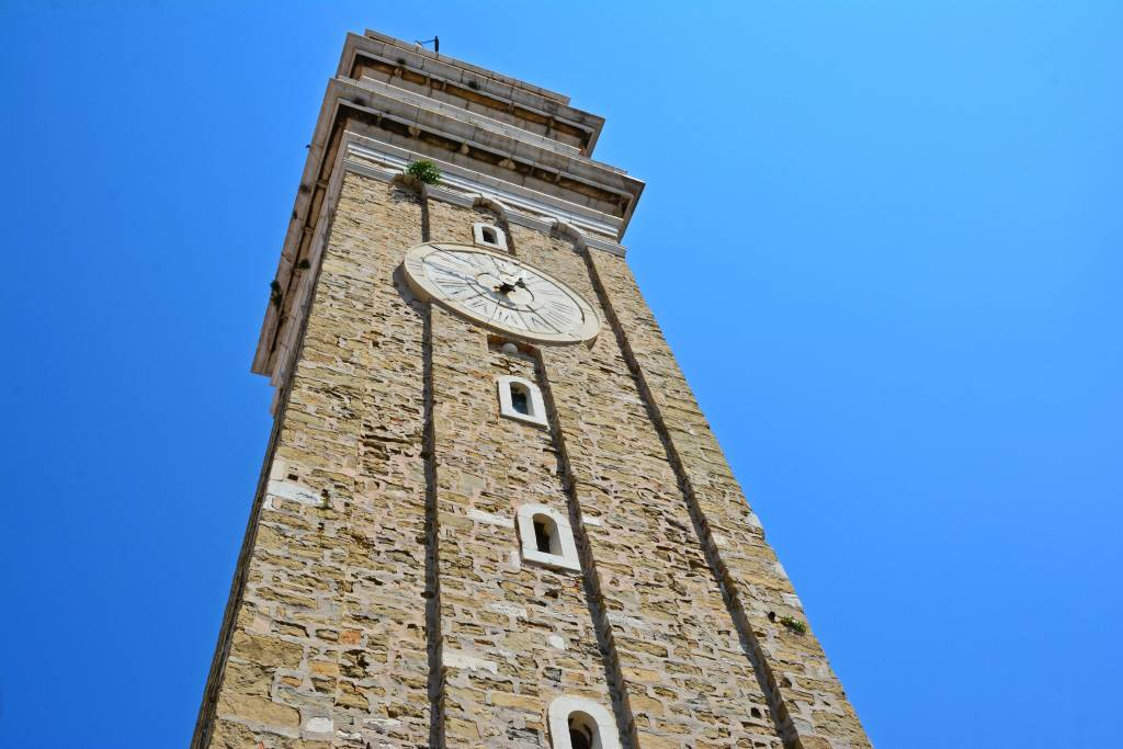 Bell Tower at the Church of St George in Piran Slovenia