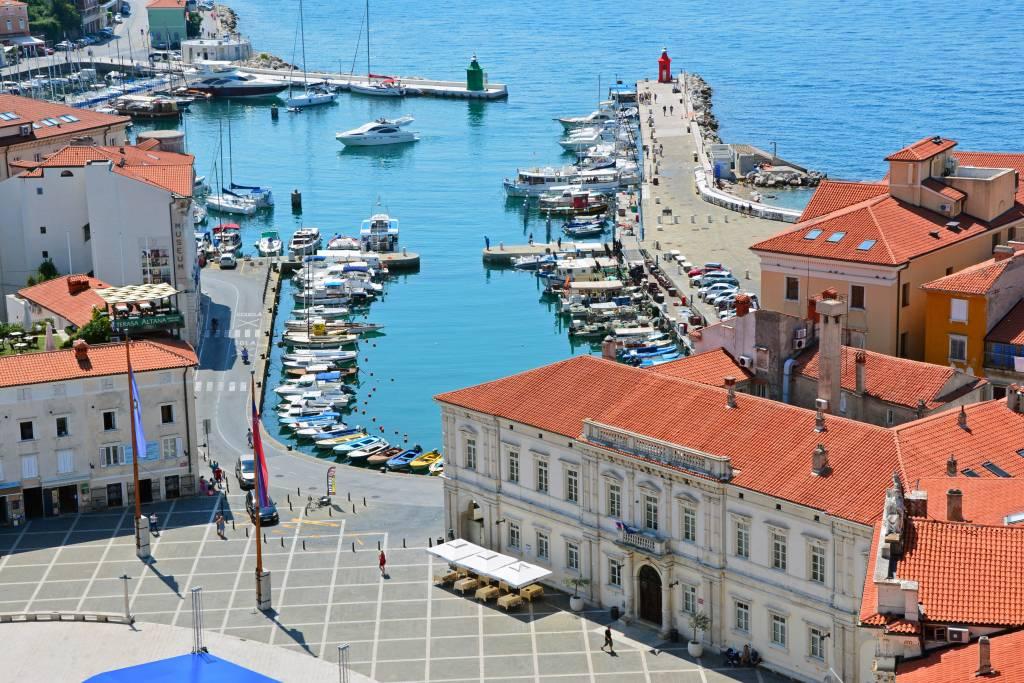 Harbor in Piran Slovenia