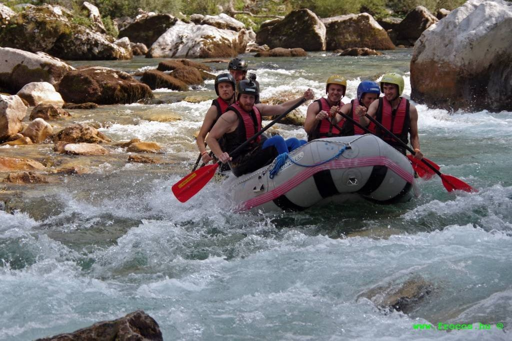 Rafting the Soca River