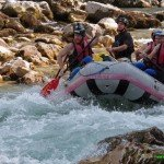 Rafting in Slovenia on the Soca River in Bovec