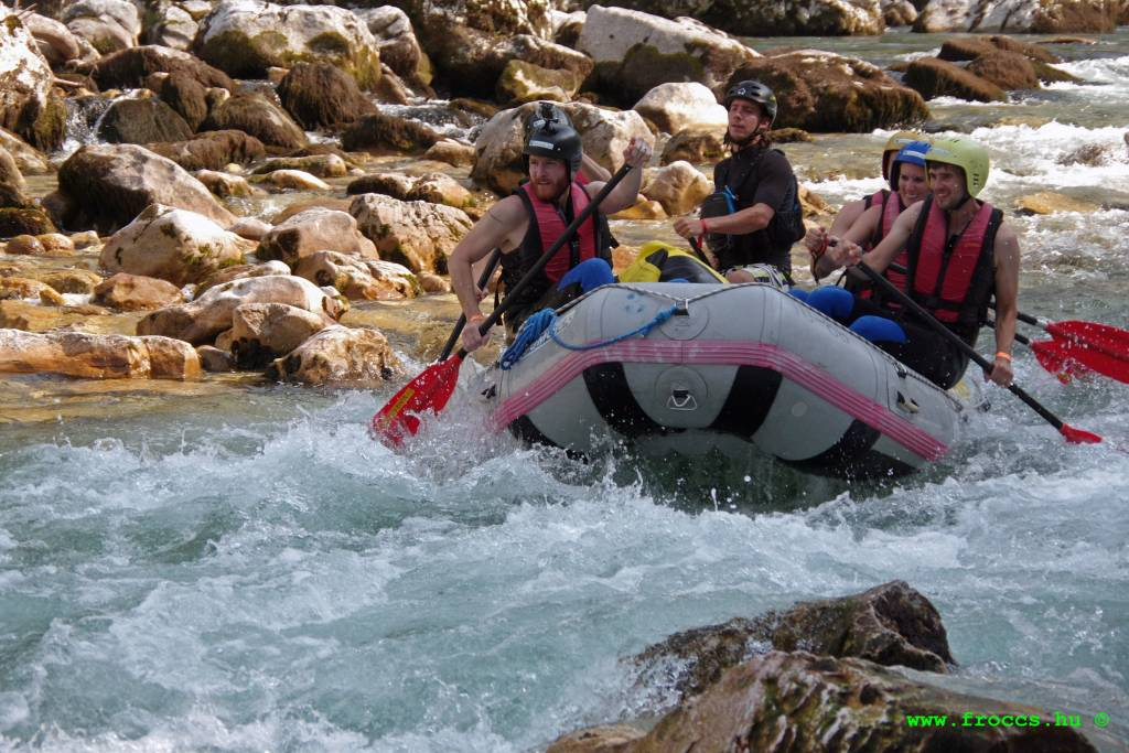 Rafing on the Soca River - Bovec