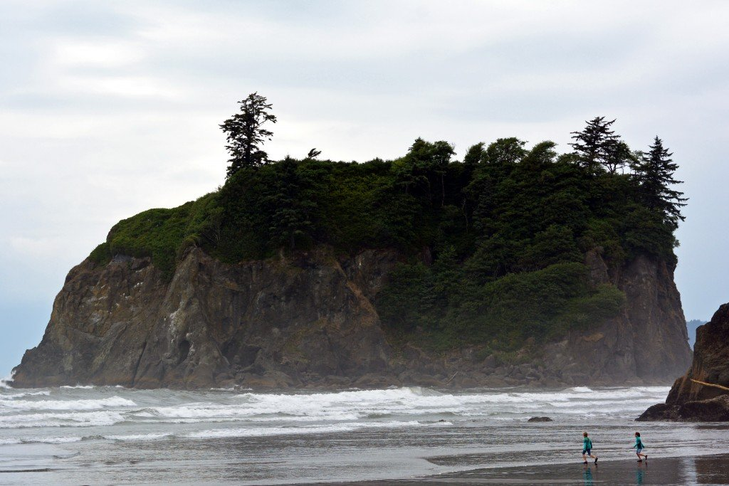 Ruby Beach Olympic Peninsula Washington sea stack