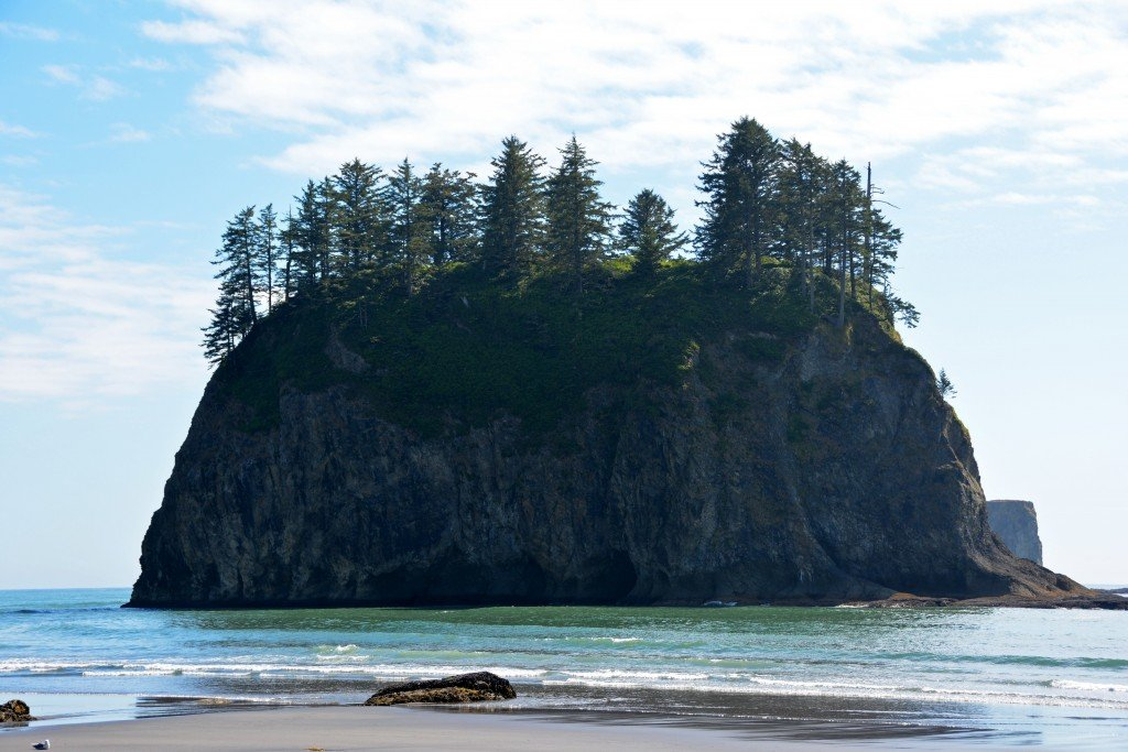 Sea Stack Second Beach Olympic Peninsula Washington