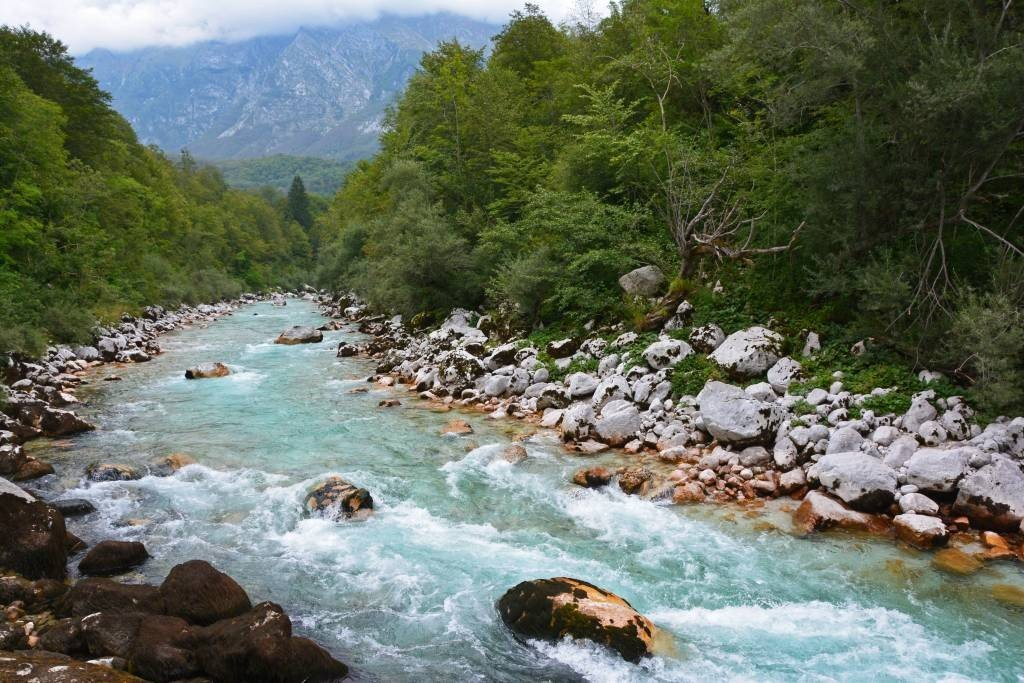 Soca River in Kobarid