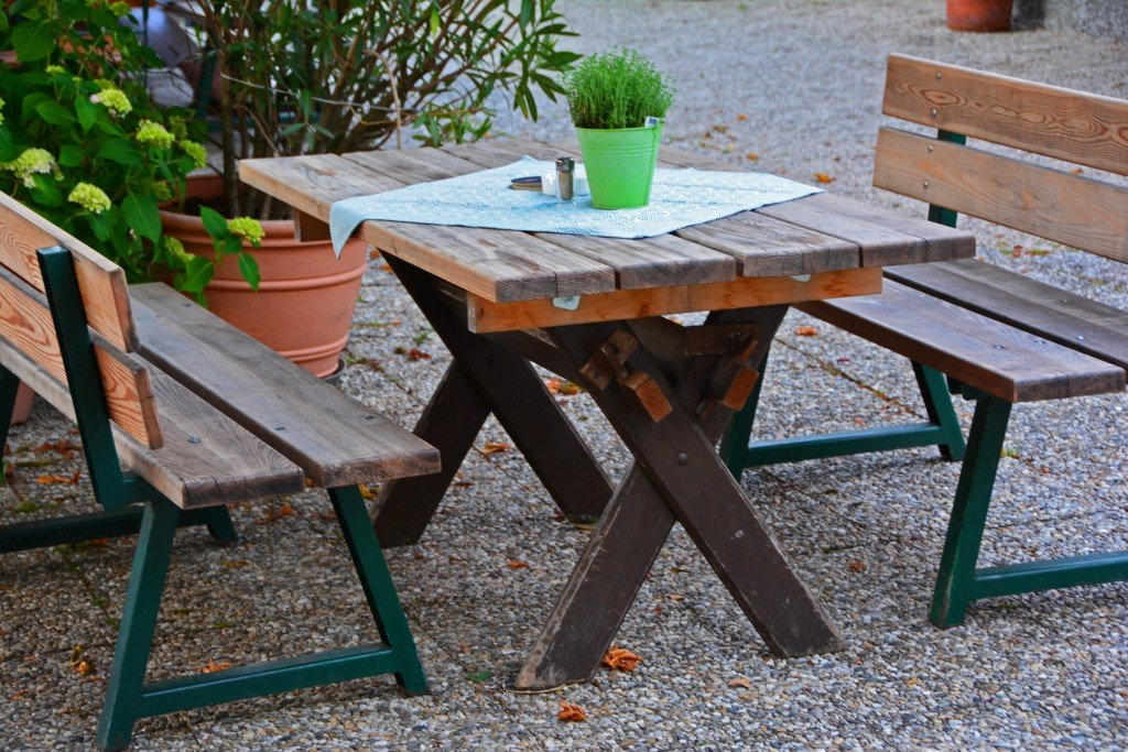 Dining picnic table St Gilgen Austria
