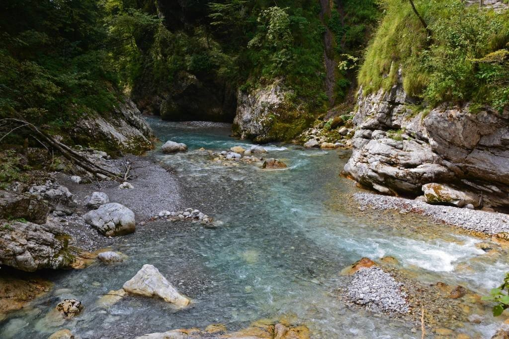 Tolminka River at Tolmin Gorge
