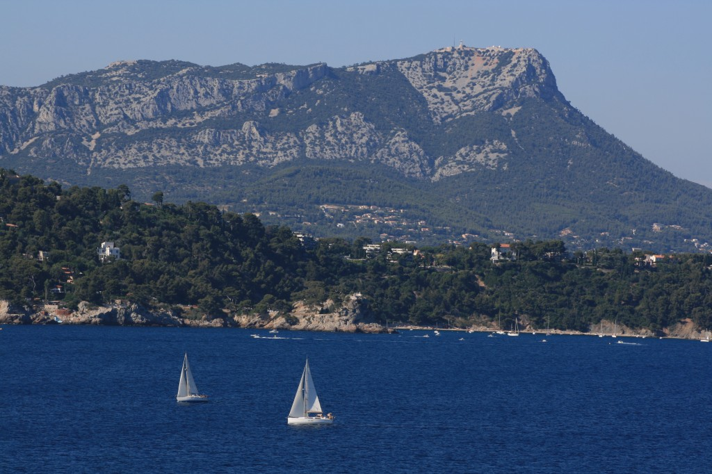 Sailboats on Mediterranean Sea