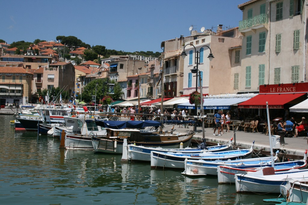 Boats in harbor Cassis