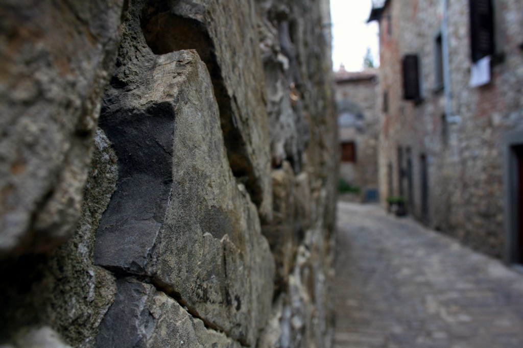Montefioralle stone wall