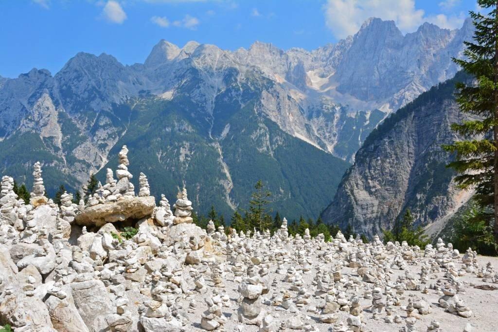 Stacked Rocks Vrsic Pass