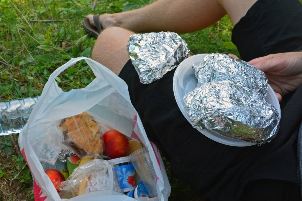 Picnic lunch along Vrsic Pass - Slovenia